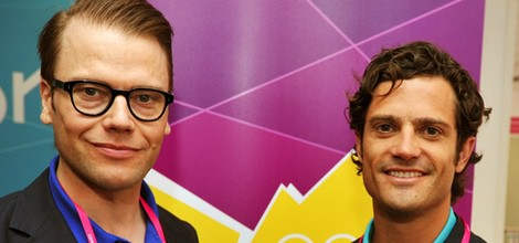 Daniel y Carlos Felipe de Suecia con una medalla de oro en Londres 2012