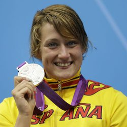 Mireia Belmonte, medalla de plata en 200 metros mariposa en Londres 2012