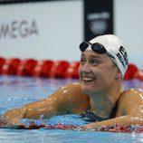 Mirea Belmonte tras los 200 metros mariposa en los Juegos Olímpicos de Londres 2012