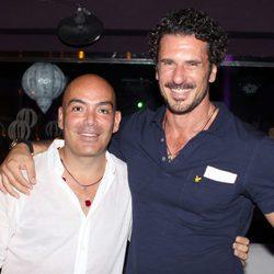 Kike Sarasola y Carlos Marrero en una fiesta organizada en Ibiza