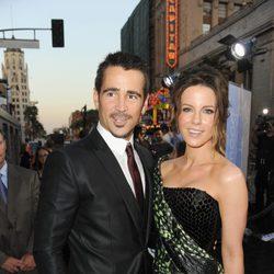 Colin Farrell y Kate Beckinsale en el estreno de 'Desafío total' en Los Angeles