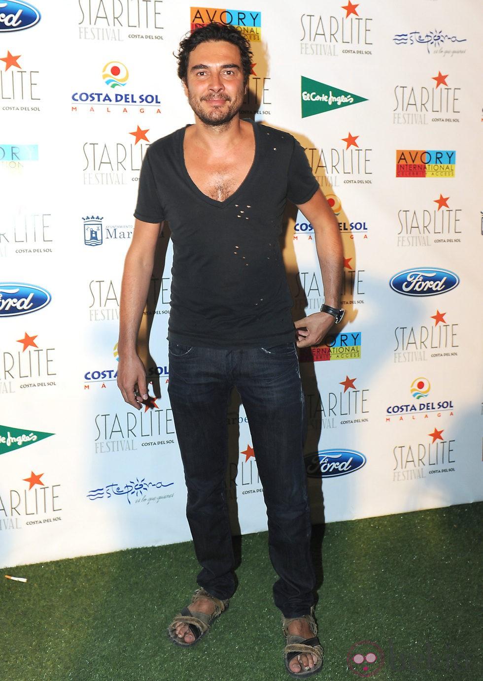José Manuel seda en el Festival Starlite de Marbella 2012