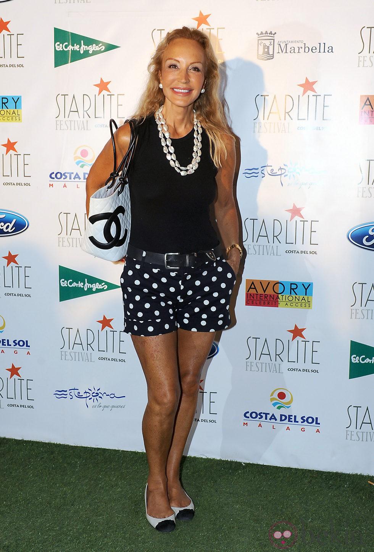 Carmen Lomana en el Festival Starlite de Marbella 2012