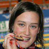 Mireia Belmonte en los europeos de 2008