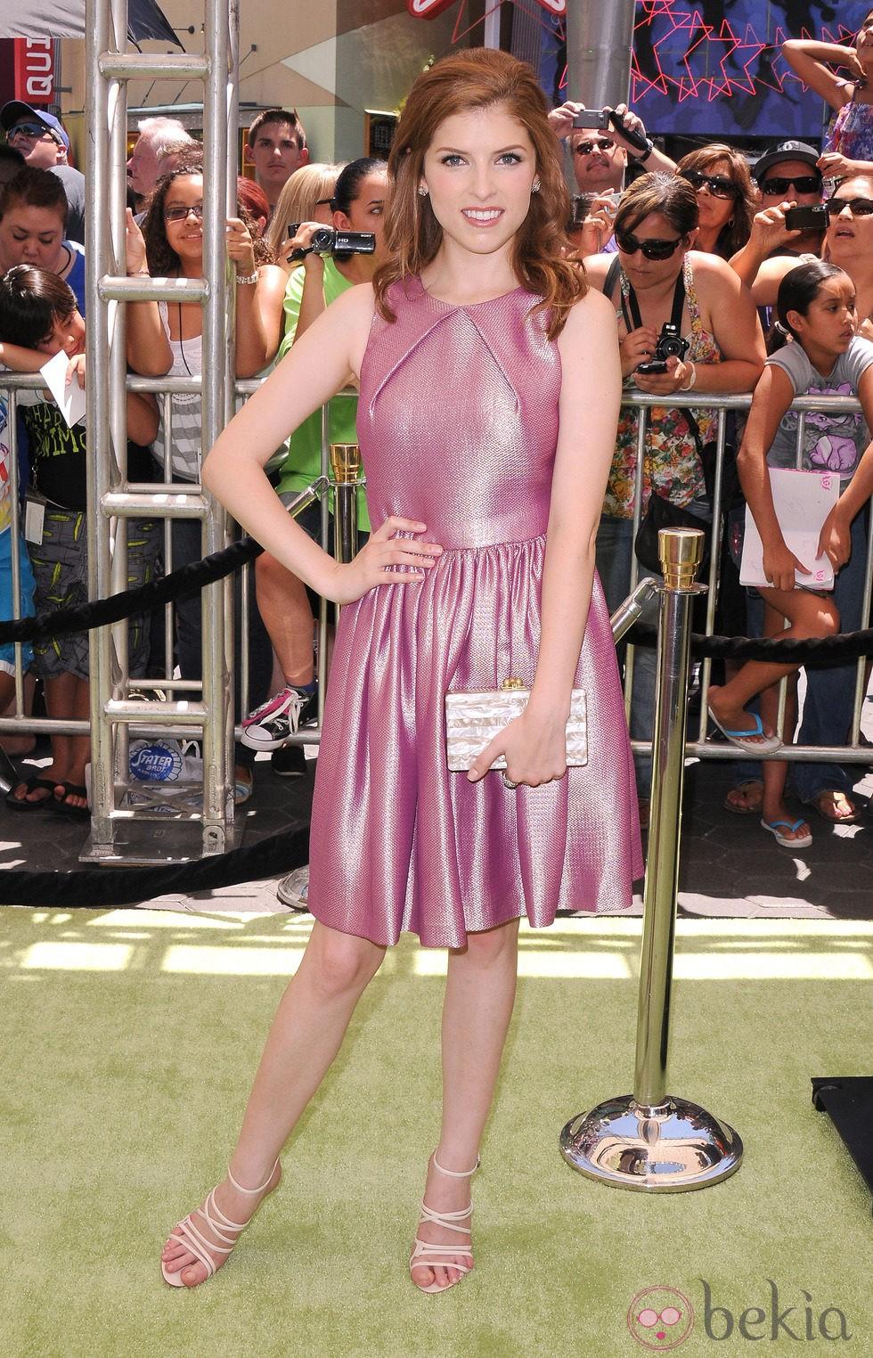 Anna Kendrick en el estreno de 'El alucinante mundo de Norman' en Los Ángeles