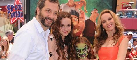 Judd Apatow y Leslie Mann en el estreno de 'El alucinante mundo de Norman' en Los Ángeles