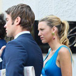 Blake Lively y Chace Crawford en una parada del rodaje de la sexta temporada de 'Gossip Girl'