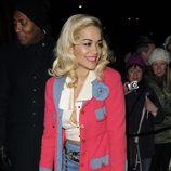 Rita Ora en una fiesta previa a los Premios BAFTA