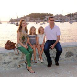 Los Príncipes Felipe y Letizia y las Infantas Leonor y Sofía en Sóller