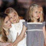 La Princesa Letizia con las Infantas Leonor y Sofía en Sóller