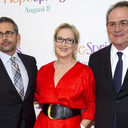 Meryl Streep, Steve Carell y Tommy Lee Jones en la premiere de 'Hope Springs' en Nueva York
