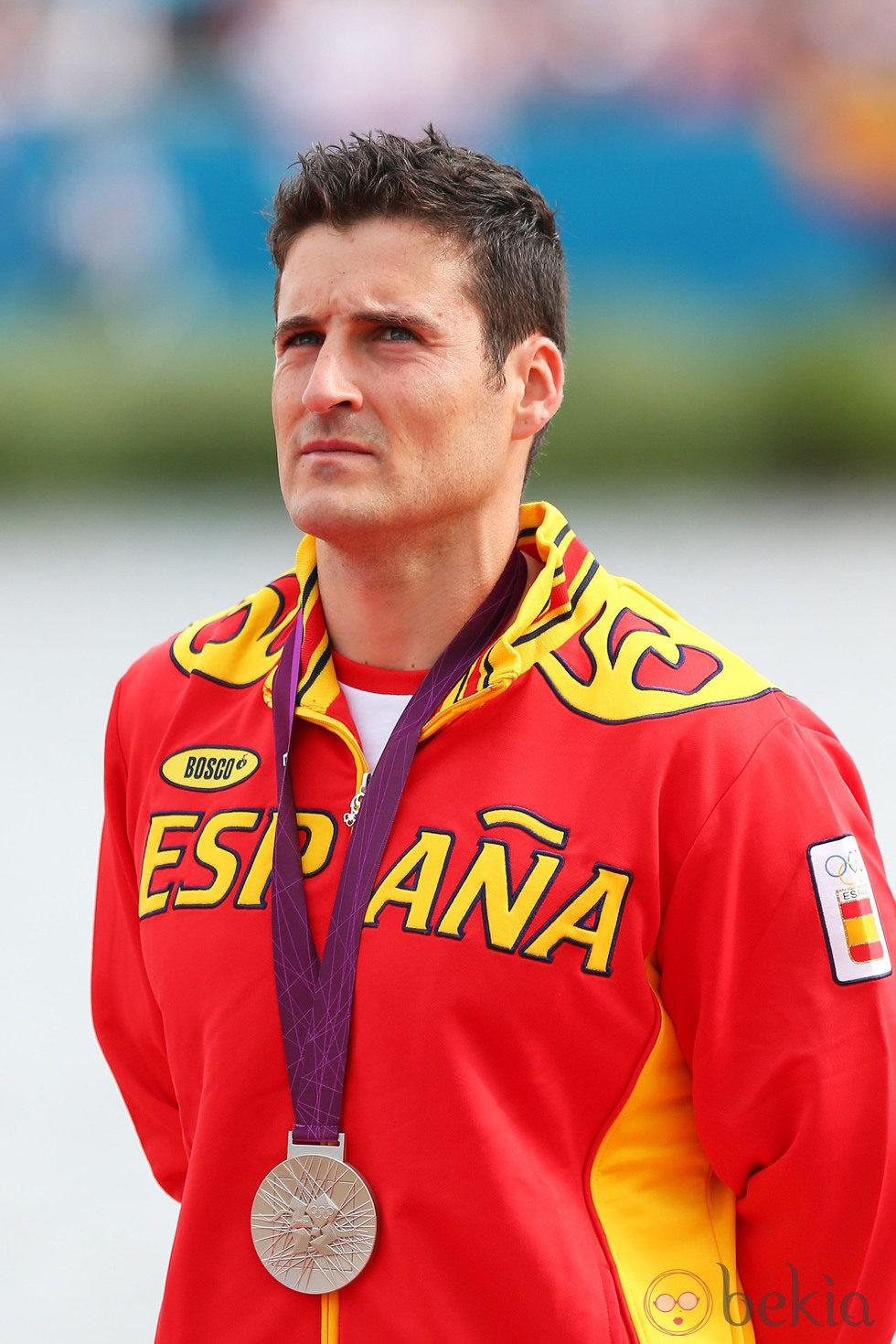 David Cal tras ganar la medalla de plata en los Juegos Olímpicos de Londres 2012