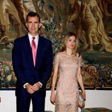 Los Príncipes de Asturias en la cena a las autoridades de Baleares