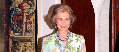 La Reina Sofía en la cena a las autoridades de Baleares