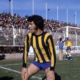 Sancho Gracia durante un partido de fútbol en la década de los 70