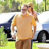 Pablo Carbonell a su llegada al tanatorio para despedir a Sancho Gracia