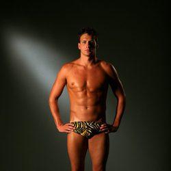 Ryan Lochte con el torso desnudo