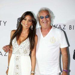 Flavio Briatore y Elisabetta Gregoraci en una fiesta celebrada en Porto Cervo