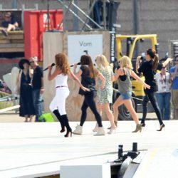 Las Spice Girls repasan la coreografía en el ensayo de su actuación en la ceremonia de clausura de los JJ.OO de Londres 2012