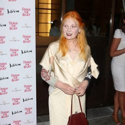 Vivienne Westwood en la cena benéfica Fashion for Relief