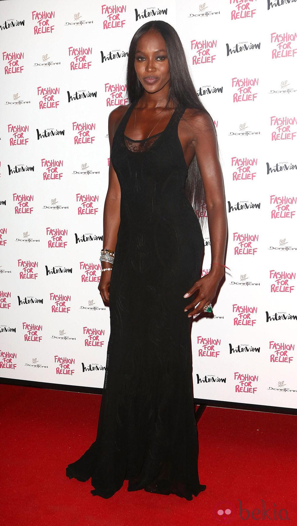 Naomi Campbell en la cena benéfica Fashion for Relief