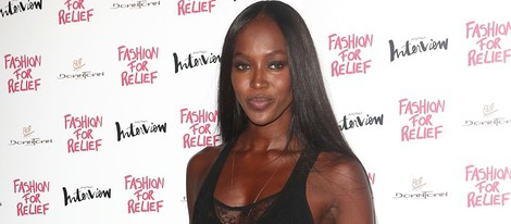 Naomi Campbell en la cena benéfica Fashion for Relief