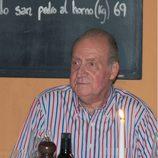 El Rey Juan Carlos, durante su cena con Rafa Nadal