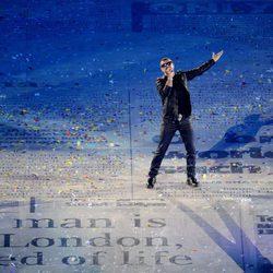George Michael en la clausura de Londres 2012