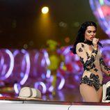 Jessie J actuando en la clausura de los Juegos Olímpicos