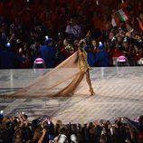 Naomi Campbell en la gala de clausura de los Juegos Olímpicos