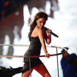 Victoria Beckham durante la gala de clausura de los Juegos Olímpicos
