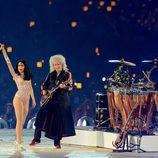Jessie J y Queen en la clausura de los Juegos Olímpicos