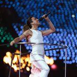 Melanie Chrisholm durante la clausura de los Juegos Olímpicos