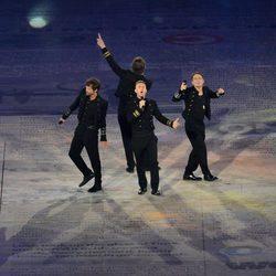 Take That en la clausura de los Juegos Olímpicos