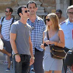 Jennifer Aniston y Justin Theroux de vacaciones en Roma