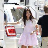 Selena Gomez durante el rodaje de 'Feed the Dog'