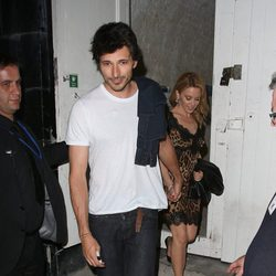 Kylie Minogue y Andrés Velencoso en la presentación del nuevo Samsung Galaxy Note