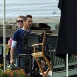 Robert Downey Jr. en un descanso del rodaje de 'Iron Man 3'