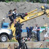 Rodaje de una escena de acción para 'Iron Man 3'