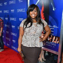Amber Riley en el estreno de 'Sparkle' en Los Ángeles