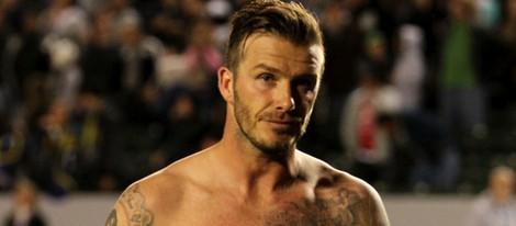 David Beckham luce sus tatuajes