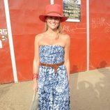 Fiona Ferrer en una corrida de toros en Sotogrande