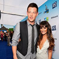 Cory Monteith y Lea Michele en la entrega de los premios Do Something 2012