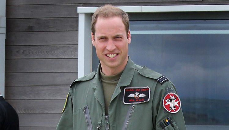 El Príncipe Guillermo con el uniforme de la RAF