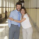 Diego Martín y Adriana Ugarte en la presentación de 'Niños robados'