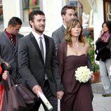 Justin Timberlake y Jessica Biel en la boda de unos amigos