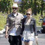 Justin Timberlake y Jessica Biel paseando por Los Ángeles