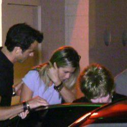 Jennifer Aniston y Justin Theroux el día de su compromiso