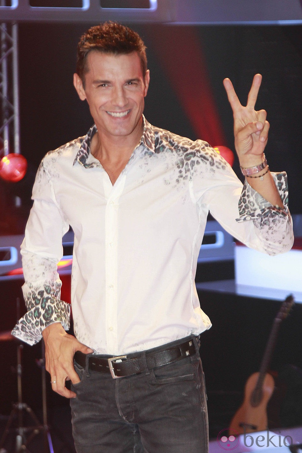 Jesús Vázquez durante la presentación de 'La Voz', el nuevo programa de Telecinco