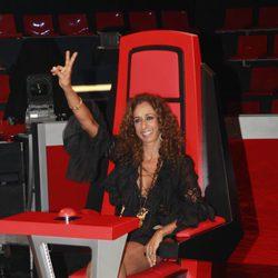 Rosario Flores durante la presentación de 'La Voz', el nuevo programa de Telecinco